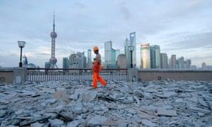 Shanghai construction worker