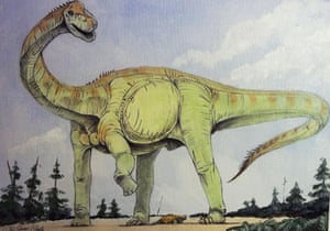 How scientists imagine a sauropod would have looked.