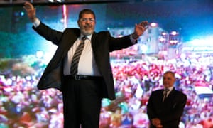 Mohammed Morsi at a rally in Cairo in 2012.