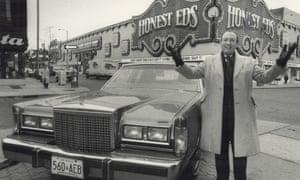 Ed Mirvish outside his shop