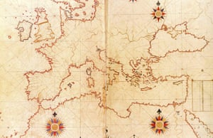 Piri Reis' map of the Mediterranean