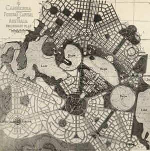 Canberra, Federal Capital of Australia, Preliminary Plan by Walter Burley Griffin, first published 12 December 1913