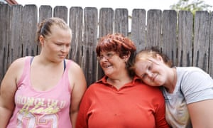 Peta Ashley and her daughters, Struggle Street