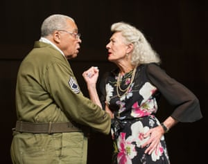 James Earl Jones and Vanessa Redgrave in Mark Rylance's Much Ado About Nothing.