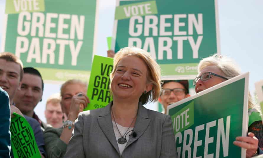 Green Party leader Natalie Bennett on the campaign trail. 'Greens have been clear that we would neve