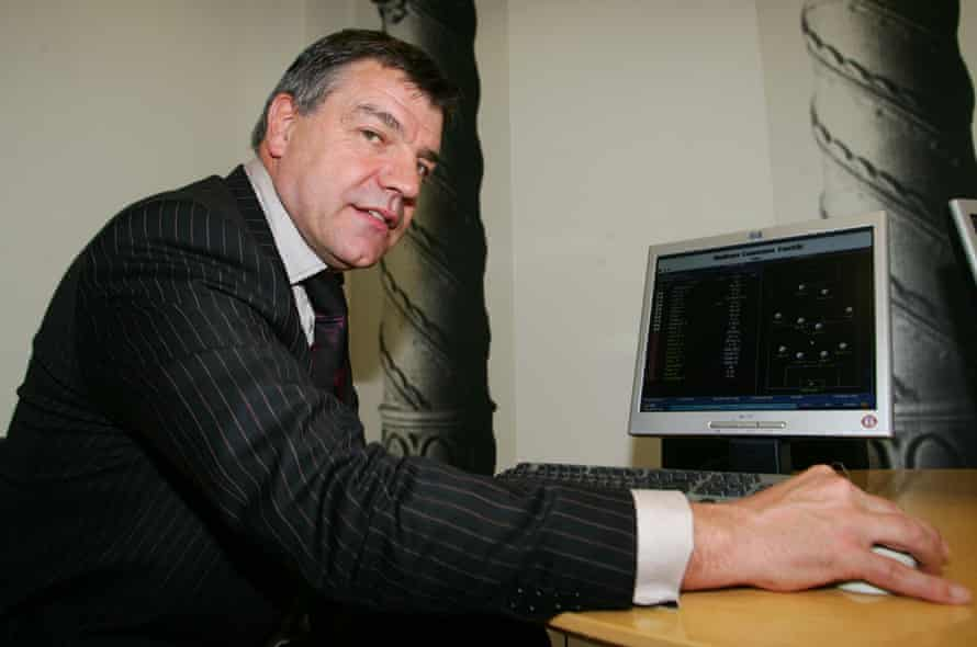 Sam Allardyce at the launch of Championship Manager 5 in 2005.