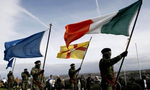Members of the Real IRA at a republican Easter commemoration ceremony in 2010. The new paper says armed actions are hampering the republican movement.