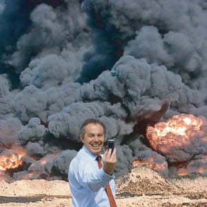 Visual shorthand for Blair's controversial Iraq policy … Photo Op, made by Cat Phillipps in 2005 as part of the collaborative practice kennardphillipps. Photograph: kennardphillipps