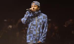 Rapper Kendrick Lamar performing in February 2015.