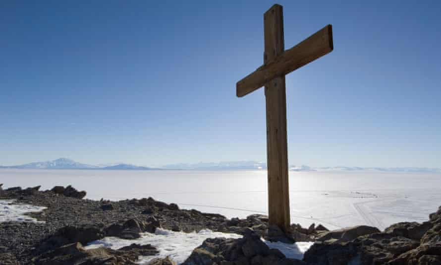 Cross on Observation Hill, Ross Island, Antarctica