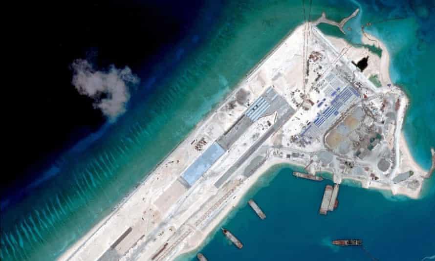 Satellite image in the spratly islands