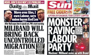 General election coverage: the Sun has joined the Mail in vilifying Ed Miliband's Labour