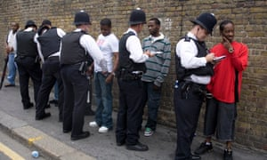 Police stop and search black young people at the Nottinghill carnival
