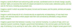 Green election manifesto