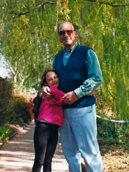 Moya and her father on holiday in France in 1995, when Moya was nine.