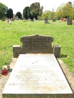 Clifford Grey's grave in Ipswich
