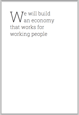 Page 8 of Labour's manifesto, showing a blank page