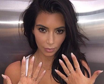 Kim Kardashian selfie with rings