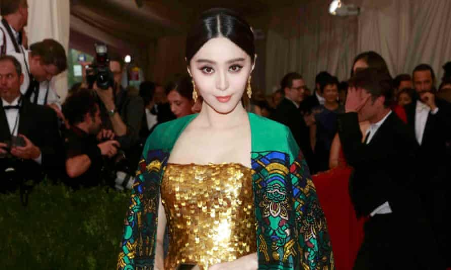 Chinese actress Fan Bingbing in Christopher Bu at the Met Ball.