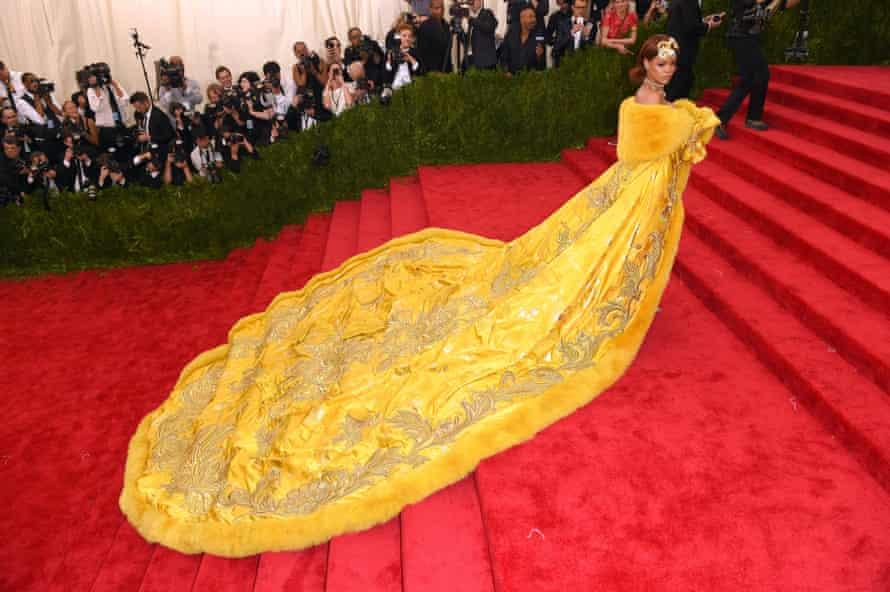 Rihanna in Chinese designer Guo Pei at the Met Ball
