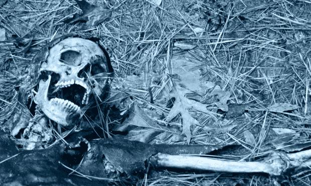 Human remains at the body farm
