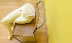 """Sarah Lucas installation British Pavilion at the 56th International Art Exhibition at the Biennale in VeniceTitled show """"I scream Daddio""""Yoko"""