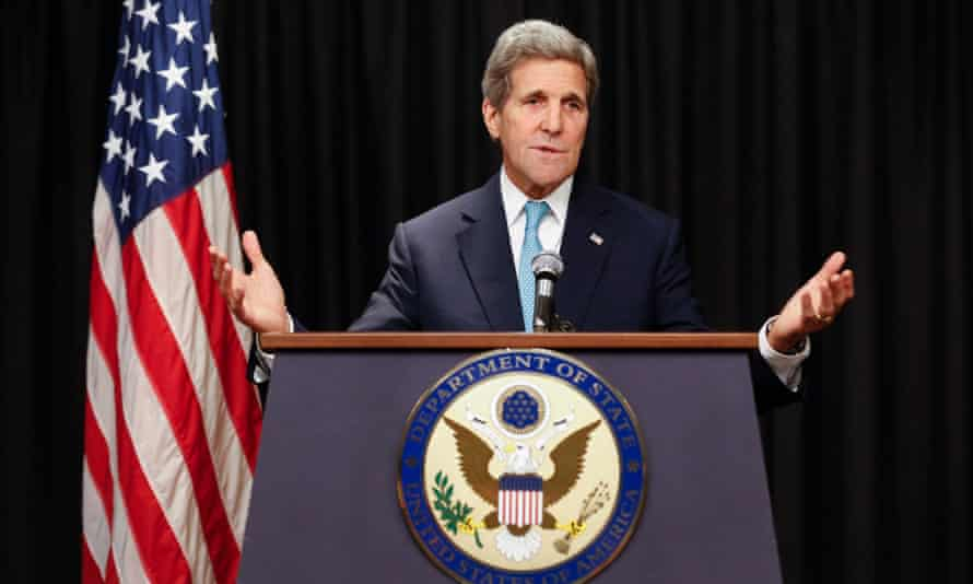 US secretary of state John Kerry speaks during a news conference in Nairobi, Kenya, where he said South Sudan's leaders have squandered the chance to end civil war.