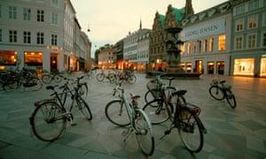 Bicycles in Copenhagen.