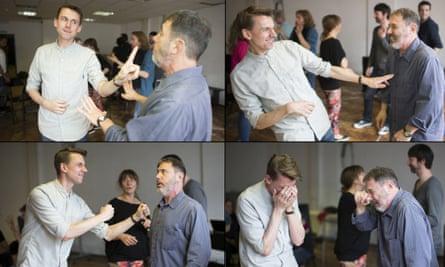 Tim Jonze with Kevin Frank on a Second City improv workshop