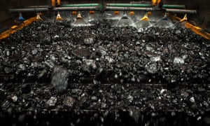 Coarse coal form the mine is processed in the wash plant