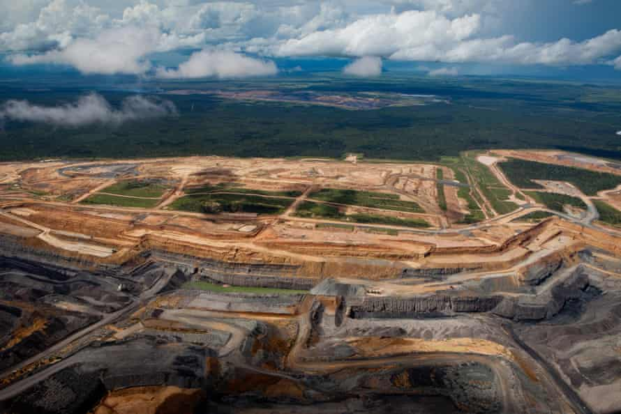 Coal development in the Bowen Basin just east of the Galilee Basin. The area is under threat from coal mining and in particular the loss of the Bimblebox nature reserve - home to the endangered Black-Throated Finch. Aerials show the existing coal developments in the area contrasted with the natural beauty.