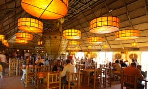 Dining area at Clovis Island