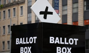 A mock ballot box  to encourage people to vote in the Bristol mayoral election on November 15, 2012 in Bristol, England.