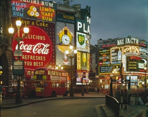 Piccadilly by Night, London, 1960