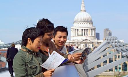 International students in London