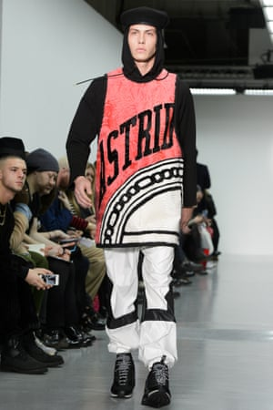 Astrid Anderson fashion show at London Collections Men 2015.