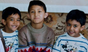 Zahid Mubarek as a child with his twin brothers.