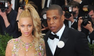 Beyonce and Jay Z at the Met Ball on Monday in New York.
