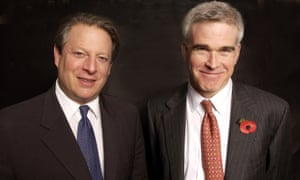 Al Gore and business partner David Blood in 2004.