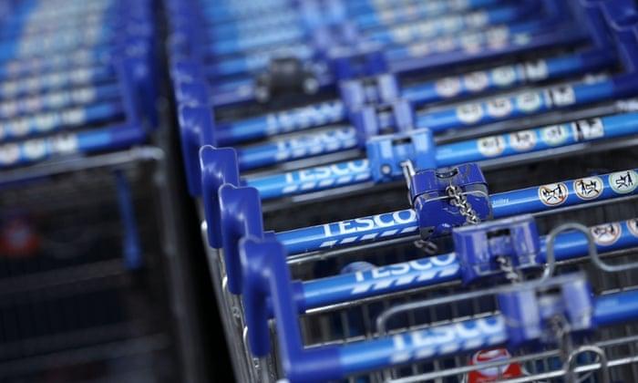 Tesco supermarket in Sunbury, west of London.