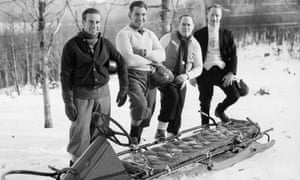 From left: Billy Fiske, Eddie Eagan, Clifford Gray and Jay O'Brien, at Lake Placid in 1932.