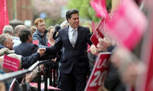 Miliband campaigning on May 5