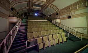 LONDON, ENGLAND - MAY 05:  General view of the interior of the Regent Cinema on May 5, 2015 in London, England.  After a three-year restoration, the first ever cinema to display a moving image created by the Lumiere brothers re-opens to the public. The refurbished Regent Street Cinema will be the only cinema in the UK to show all moving image media, from 16 and 35mm to Super 8 and 4K digital film.  (Photo by Ian Gavan/Getty Images)