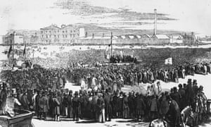 Great Chartist Meeting held on Kennington Common in April 1848