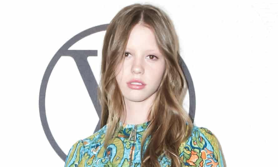 Mia Goth: the 22-year-old model appeared in Miu Miu's ad in Vogue magazine
