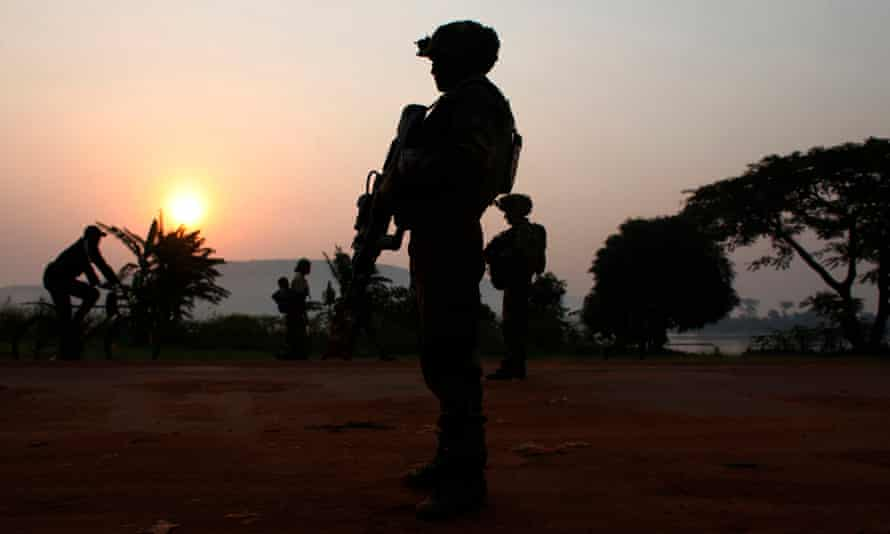A French soldier is pictured in Bangui in December 2013.