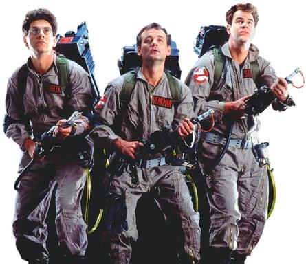 Harold Ramis, Bill Murray and Dan Aykroyd in Ghostbusters