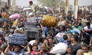 Displaced Sunni people arrive in Baghdad, after fleeing violence in the city of Ramadi, in April 2015. Iraq had the highest number of new internally displaced people in 2014.