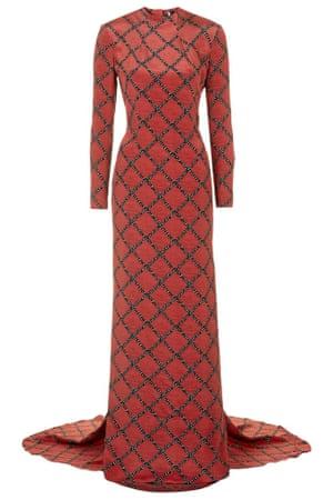 Cut-Out Fishtail Hem Silk Maxi Dress from Topshop