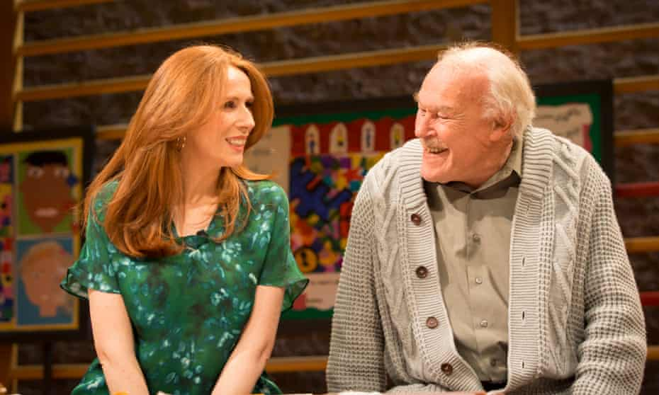 Catherine Tate and Timothy West in election drama The Vote, at London's Donmar Warehouse.